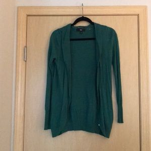 Mossimo Green Open Front Cardigan